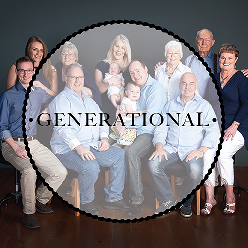 Click here to find out about our Generational Family portraits sessions